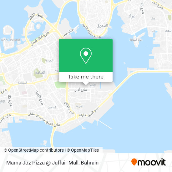 Mama Joz Pizza @ Juffair Mall map