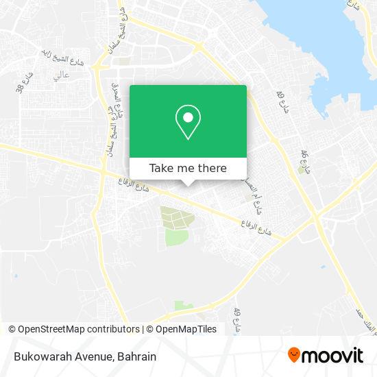Bukowarah Avenue map