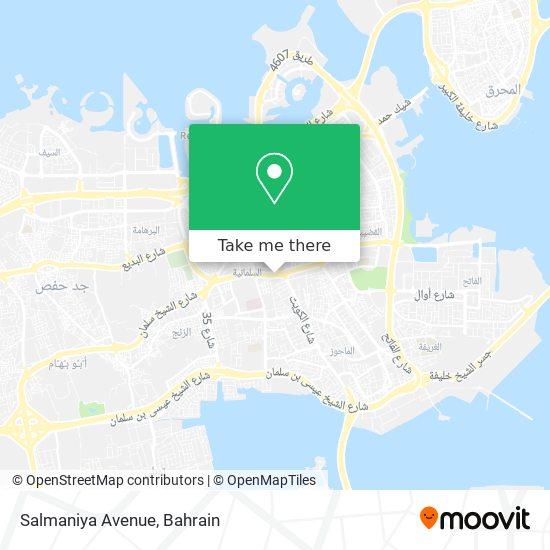 Salmaniya Avenue map
