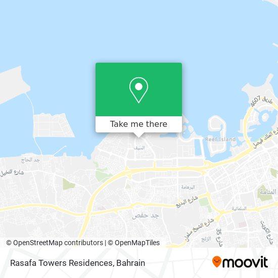 Rasafa Towers Residences map