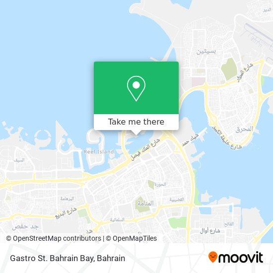 Gastro St. Bahrain Bay map