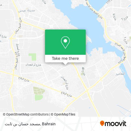 مسجد حسان بن ثابت map