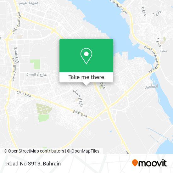 Road No 3913 map