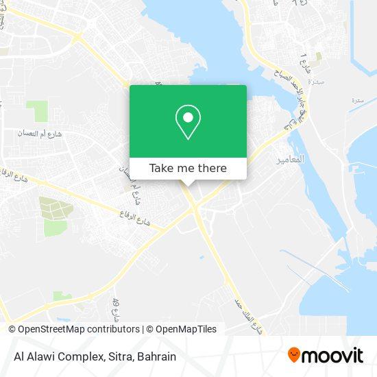 Al Alawi Complex, Sitra map