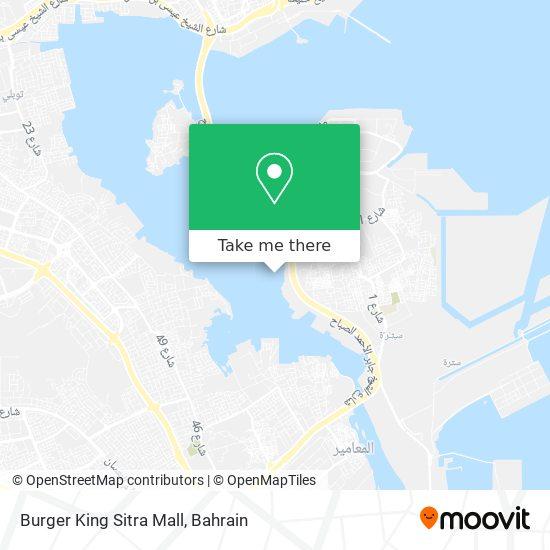 Burger King Sitra Mall map