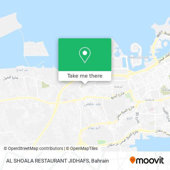 AL SHOALA RESTAURANT JIDHAFS map