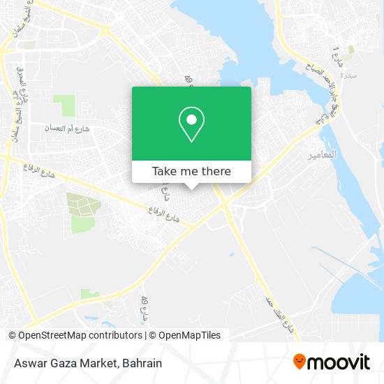 Aswar Gaza Market map