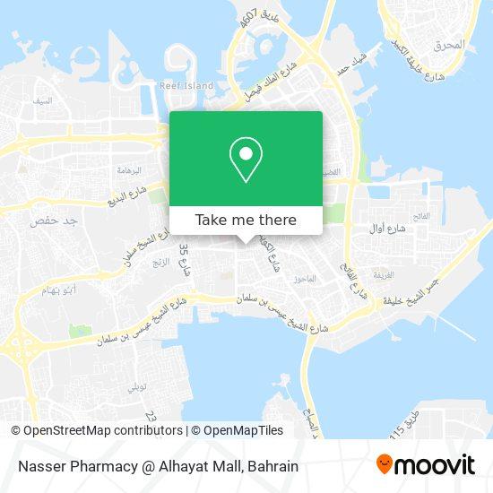 Nasser Pharmacy @ Alhayat Mall map