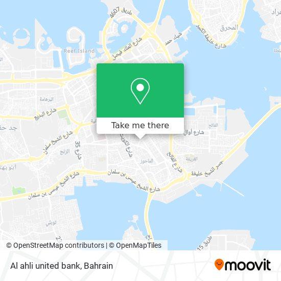 Al ahli united bank map