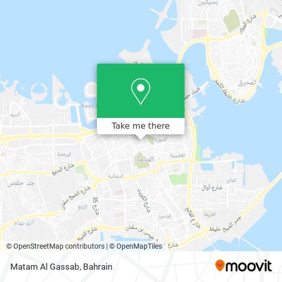Matam Al Gassab map