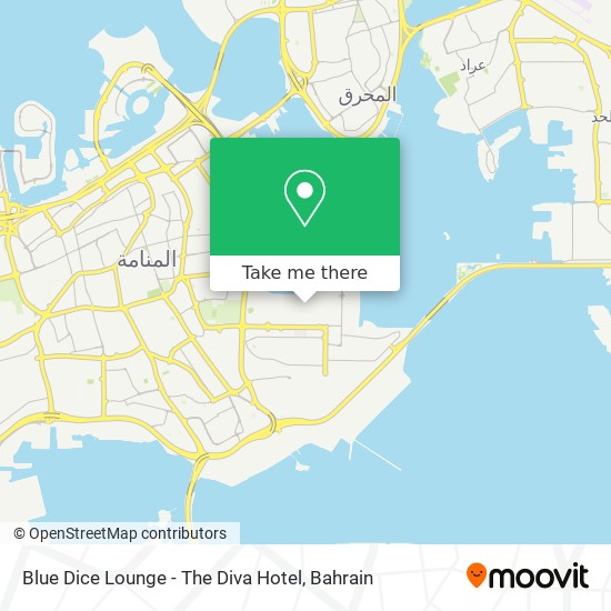 Blue Dice Lounge - The Diva Hotel map