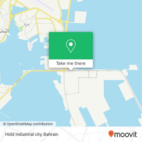 Hidd Industrial city map