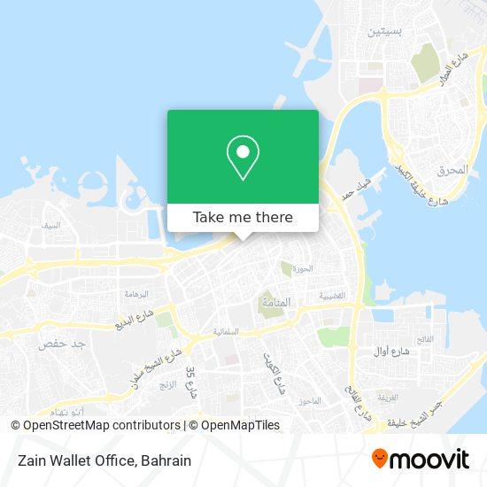 Zain Wallet Office map