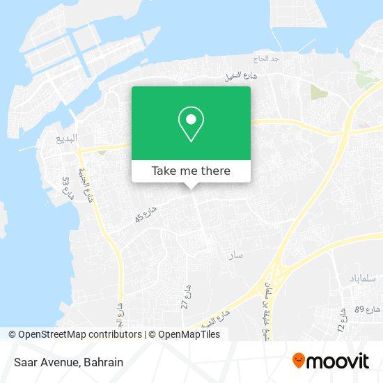 Saar Avenue map