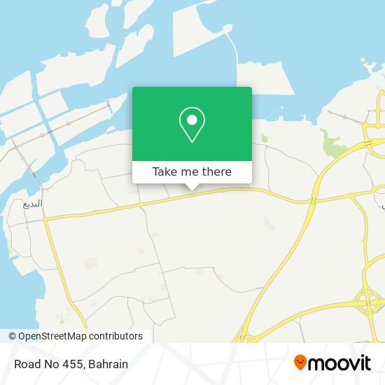 Road No 455 map