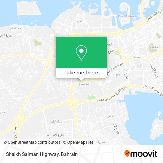 Shaikh Salman Highway map