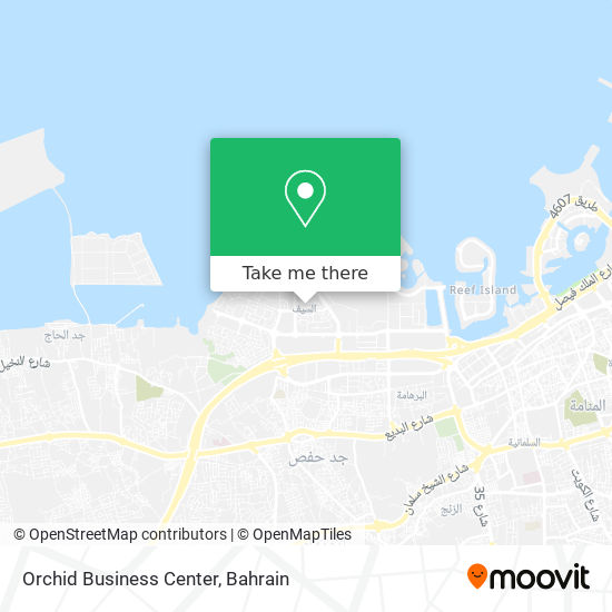Orchid Business Center map