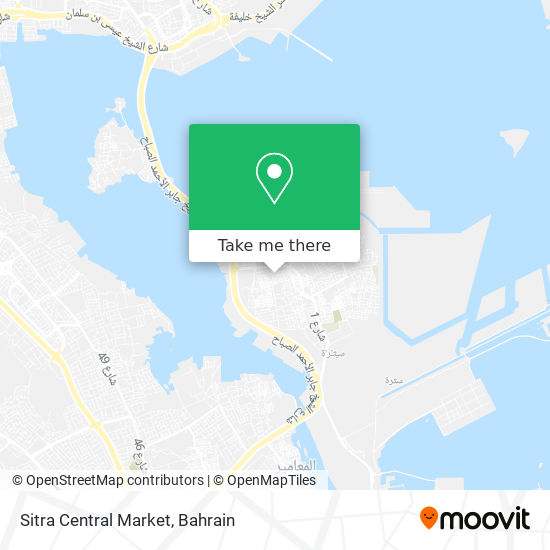 Sitra Central Market map