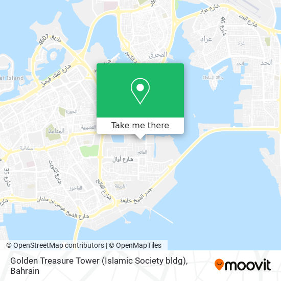 Golden Treasure Tower (Islamic Society bldg) map