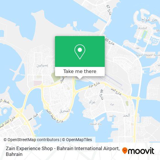 Zain Experience Shop - Bahrain International Airport map