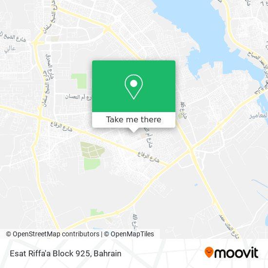 Esat Riffa'a Block 925 map