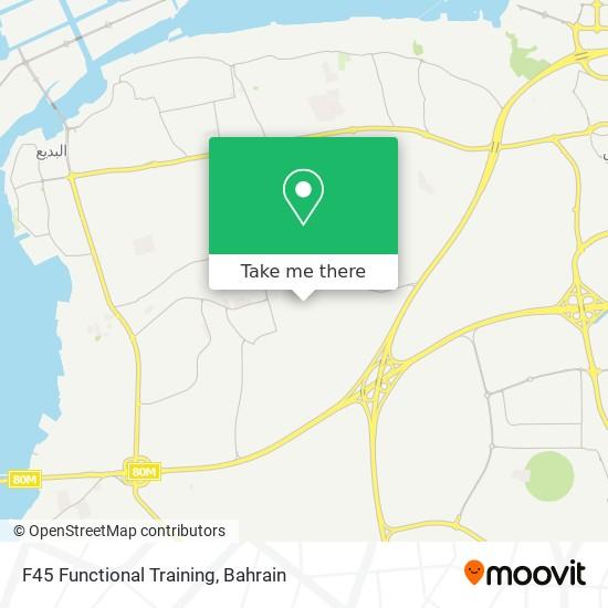 F45 Functional Training map