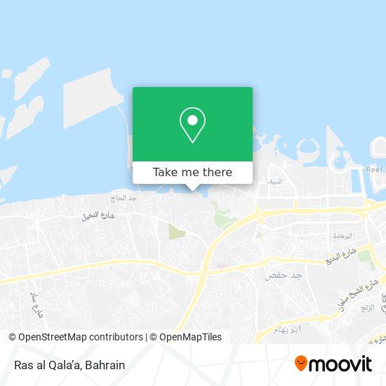Ras al Qala'a map