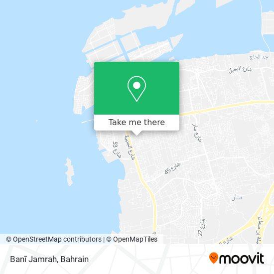 Banī Jamrah map
