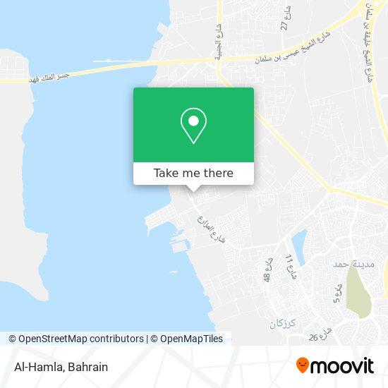 Al-Hamla map