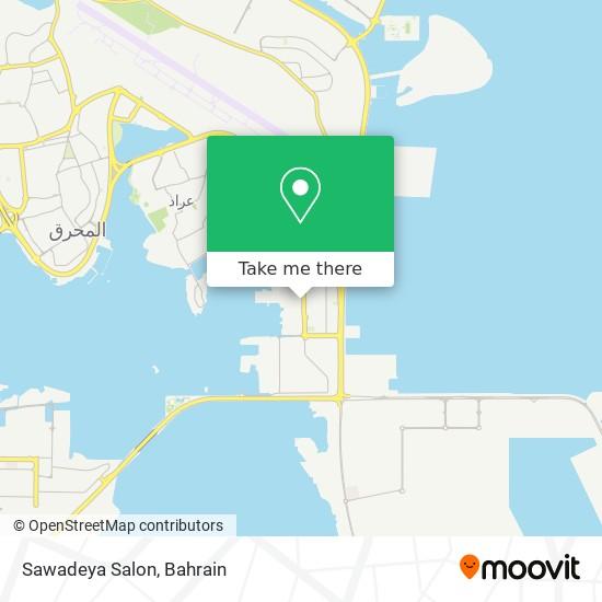 Sawadeya Salon map