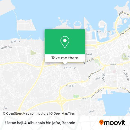 Matan haji A.Alhussain bin jafar map