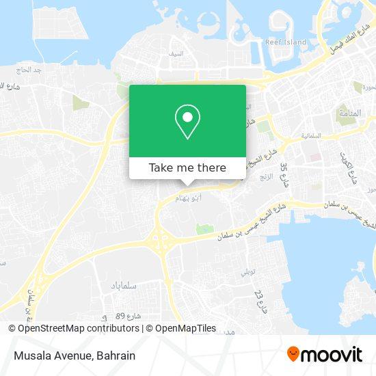 Musala Avenue map