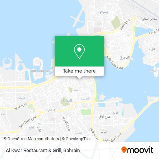 Al Kwar Restaurant & Grill map