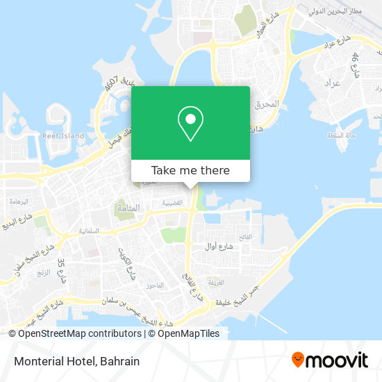 Monterial Hotel map