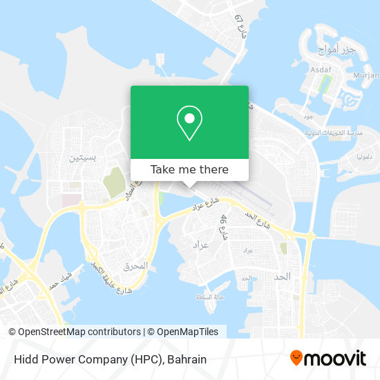 Hidd Power Company (HPC) map