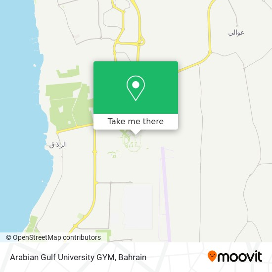 Arabian Gulf University GYM map