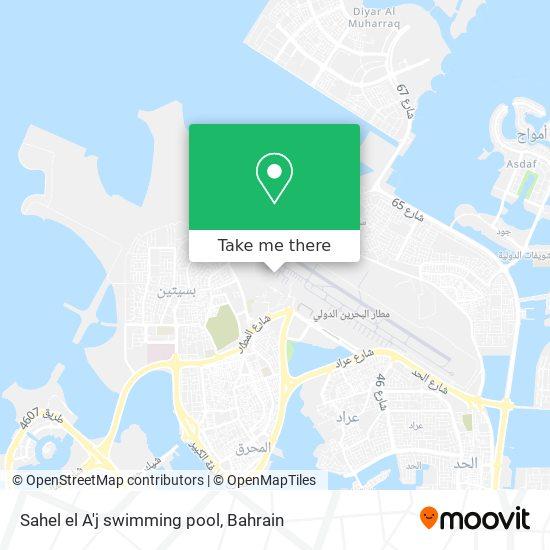 Sahel el A'j swimming pool map