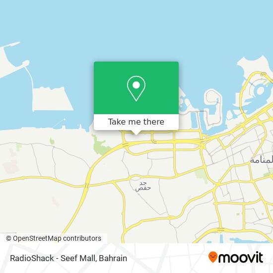 RadioShack - Seef Mall map