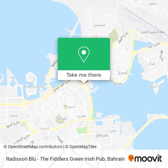 Radisson Blu - The Fiddlers Green Irish Pub map
