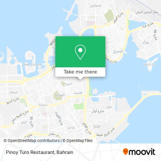 Pinoy Turo Restaurant map