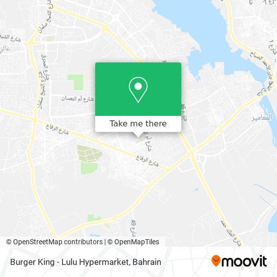 Burger King - Lulu Hypermarket map