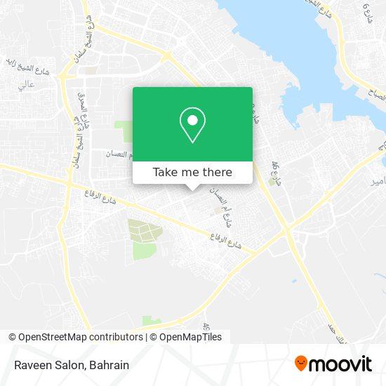 Raveen Salon map