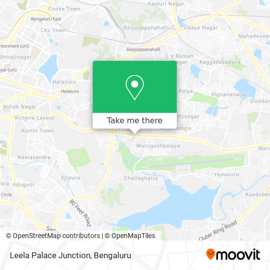 Leela Palace Junction map