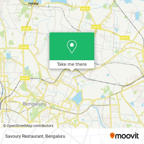 Savoury Restaurant map