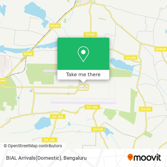 BIAL Arrivals(Domestic) map