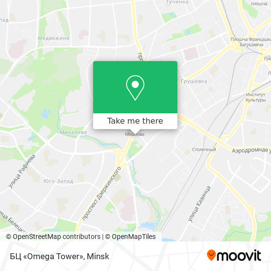 БЦ «Omega Tower» map