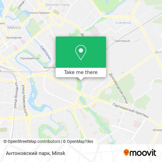 Антоновский парк map