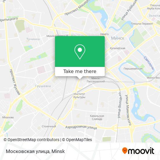Московская улица map