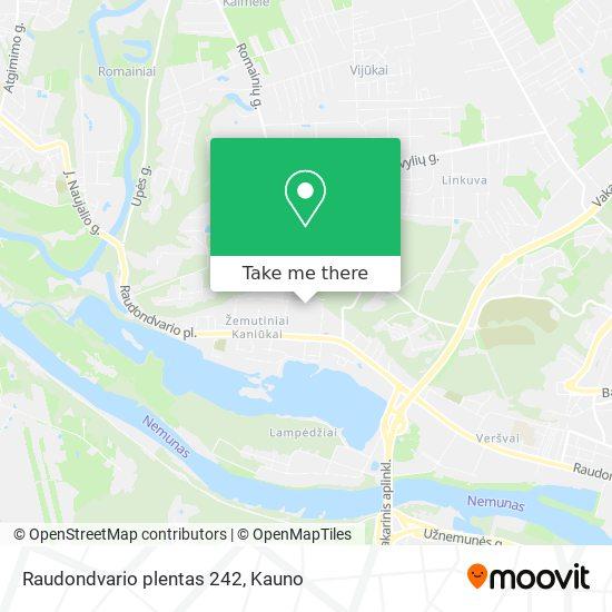 Raudondvario plentas 242 map