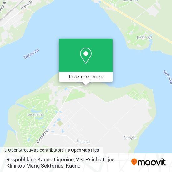 Respublikinė Kauno Ligoninė, VŠĮ Psichiatrijos Klinikos Marių Sektorius map